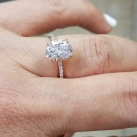 57% off Jewelry - Dainty 14k Rose Gold 2ct Oval Engagement ...