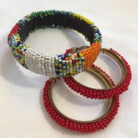 56% off Boutique Jewelry - Seed Bead Bangle and Red Seed ...