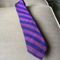 Rooster - Vintage ROOSTER Tie Diagonal Striped Purple Blue ...