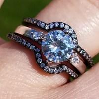 Three piece wedding ring set, black ring from Karen's ...