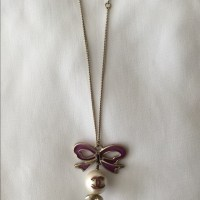 38% off CHANEL Jewelry - Chanel Bows earring and necklace ...
