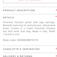25% off Charlotte Olympia Jewelry - Charlotte Olympia Gold ...