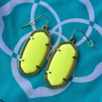 Kendra Scott - Kendra Scott Neon Yellow Elle Earrings from ...