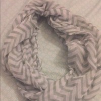 Gray and White chevron infinity scarf OS from Nina's ...
