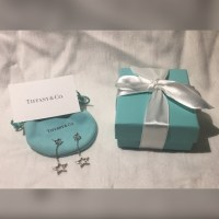 Tiffany & Co. - Auth Tiffany 925 Dangle Drop Star Earrings ...