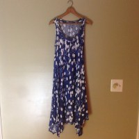 SimplyVera Vera Wang Blue Casual Summer Dress XS from R's