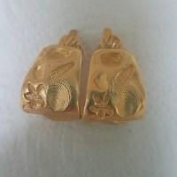 Trifari - Vintage Trifari Beach Theme Earrings Clip On ...