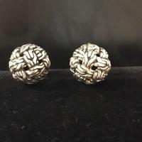 John Hardy - John Hardy Sterling Silver Knot Stud Earrings ...
