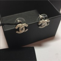 CHANEL - Chanel Classic Silver CC Logo Stud Earrings from ...