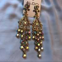 Aldo - GORGEOUS Gold Chandelier Earrings Indian Inspired ...