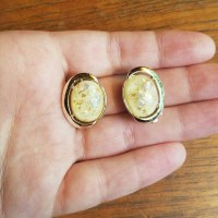 Vintage - Vintage Coro Gold & Opal Clip-On Earrings from ...