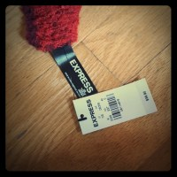 57% off Express Accessories - Express red and black ...