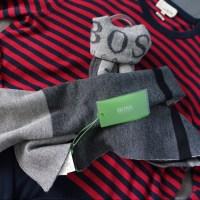 77% off Hugo Boss Other - Hugo Boss Colorblocked Wool Logo ...