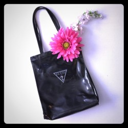 Guess Black Purse With Embossed Flowers   Gardening  Flower and ... 57b234e098