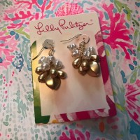 Lilly Pulitzer - Lilly Pulitzer Gold and Pearl Dangle ...