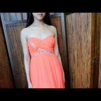 55% off City Studio Dresses & Skirts - Coral, long prom ...