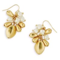 Lilly Pulitzer - Lilly Pulitzer Gold Metallic Pearl Dangle ...