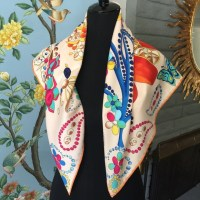 80% off Accessories - Hermes style silk scarf made in ...