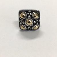 John Hardy - John Hardy Sterling/18K Square Stud Earrings ...