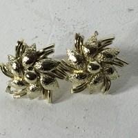 Coro - Vintage Coro Flower Gold Tone Earrings from Dee's ...