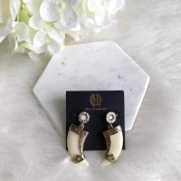 House of Harlow 1960 - house of harlow  gold + ivory drop ...
