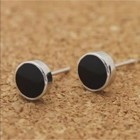 98% off Jewelry - Just In Tiny dainty Silver & Black stud ...