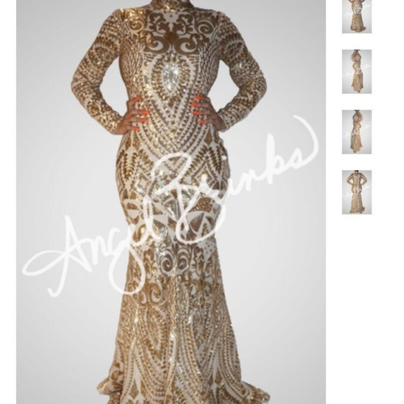 gold hypnotize dress by