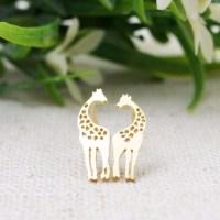 BACK IN STOCK! Delicate Gold Giraffe Earrings from Kelly's ...