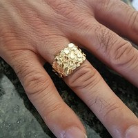 63% off Other - 10k Real Gold Men's Nugget Ring 14mm from ...