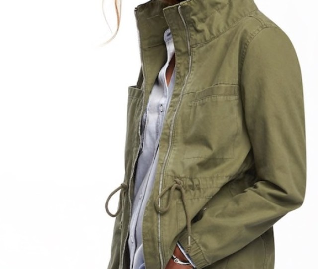 Sale Euc Old Navy Twill Field Jacket Green Xl