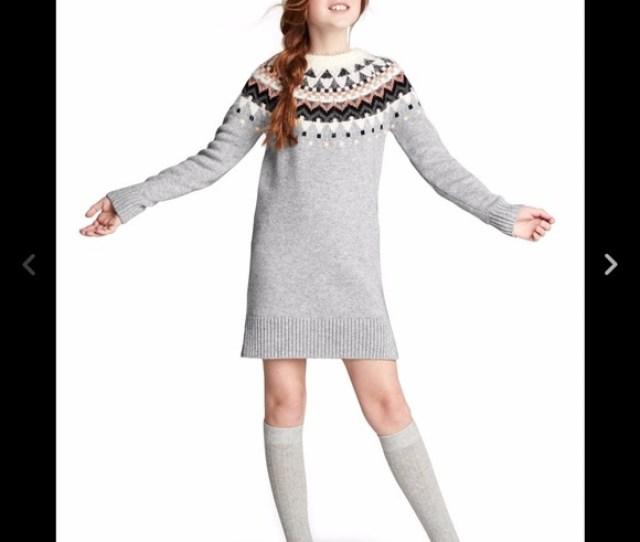 Gap Fair Isle Merino Girls Sweater Dress Size
