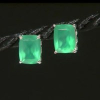 20% off Jewelry - Genuine Green Onyx Sterling Silver Stud ...