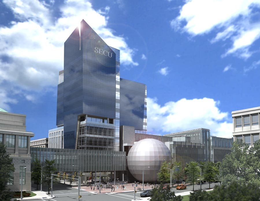 Rendering Bonus Green Square and SECU Tower  The Raleigh Connoisseur