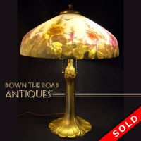 Pittsburgh Reverse Painted Table Lamp with Bumble Bees