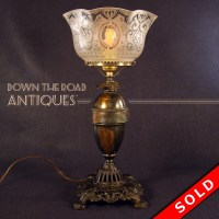 Portable Gas Table Lamp | DTR Antiques