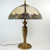 Salem Bros. Caramel Slag Glass Table Lamp | DTR Antiques