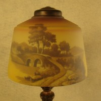 Pittsburgh Reverse Painted Boudoir Lamp