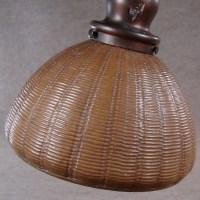 Handel Bronze Floor Lamp with Basket Weave Shade