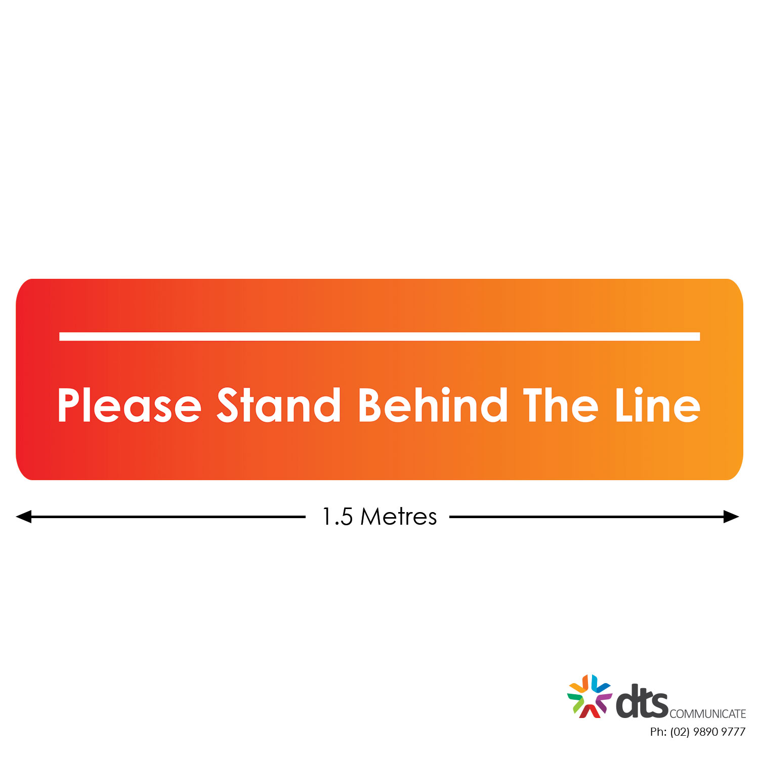 XLART DTS Covid19 Covid Floor Stickers Decals Social Distancing Sydney Melbourne Australia Stand Behind The Line style 38