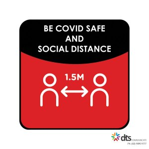 XLART DTS Covid19 Covid Floor Stickers Decals Social Distancing Sydney Melbourne Australia be safe social distance Style 28