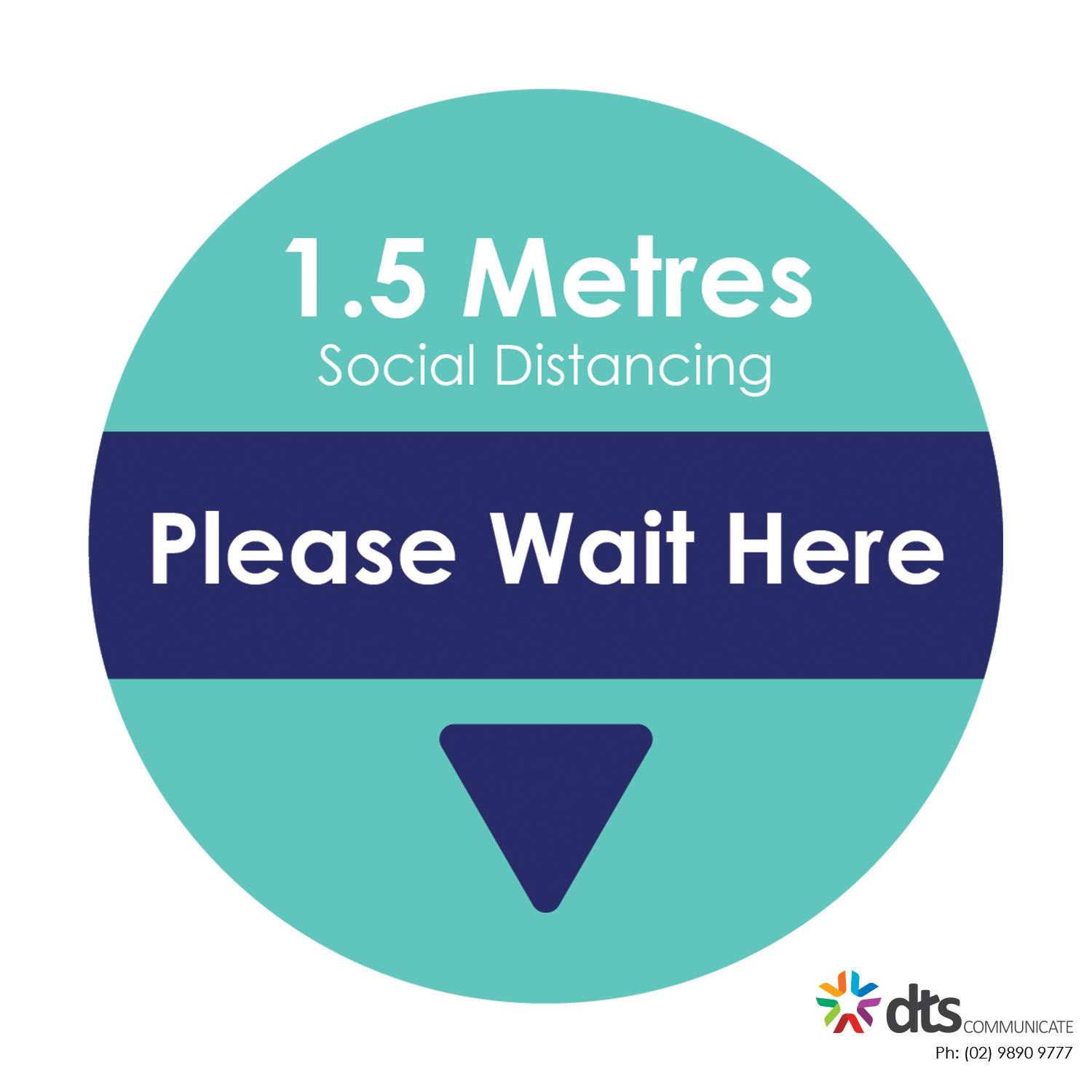 XLART DTS Covid19 Covid Floor Stickers Decals Social Distancing Sydney Melbourne Australia please wait here style 14