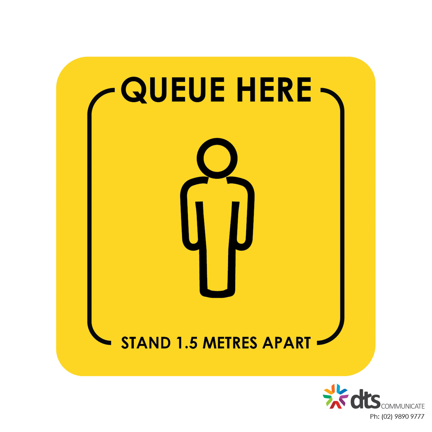 XLART DTS Covid19 Covid Floor Stickers Decals Social Distancing Sydney Melbourne Australia queue here person style 26