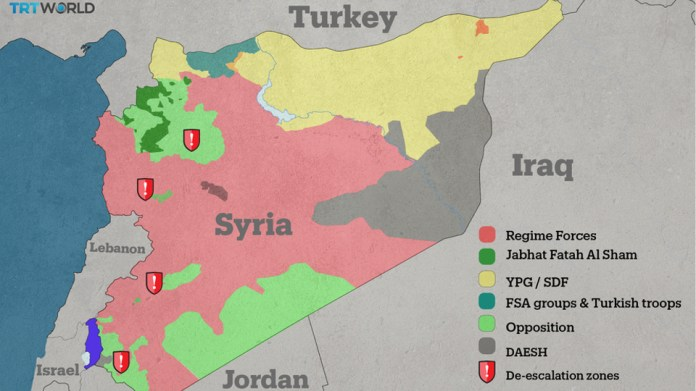 The de-escalation zones will be patrolled by military observers, but Idlib is by far the most significant. (TRT World)