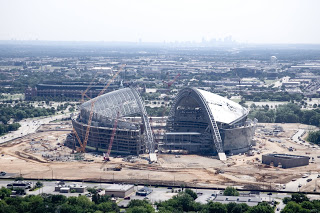Dallas Cowboy's AT&T stadium construction aerials