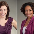 Two lady's portraits with different skin tones