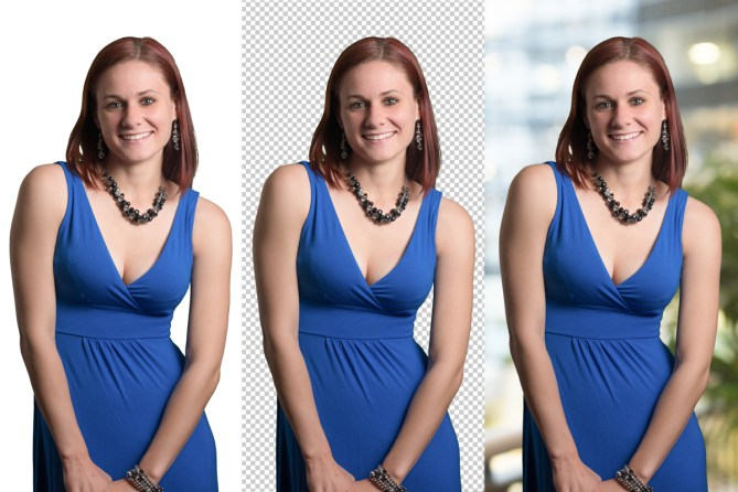 dallas green screen photographer captures three images of a lady with different backgrounds