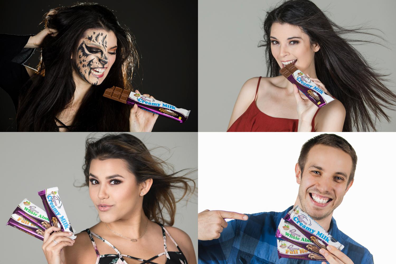 four models posing