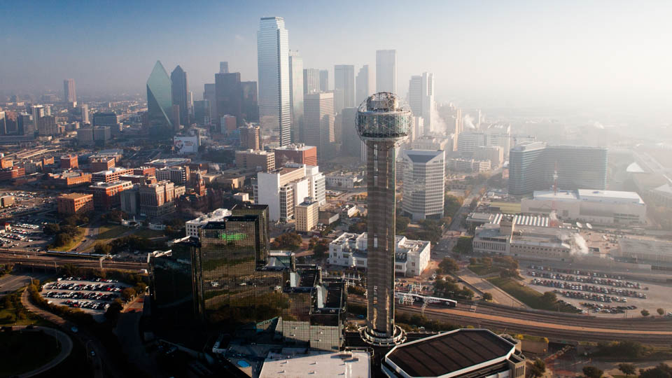 aerial cinematography in Dallas