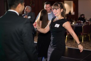 woman dancing at a corporate event