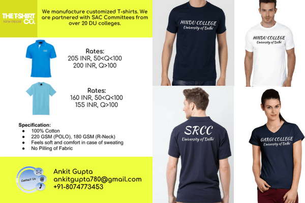 College Societies – Finest T-shirts for College Events